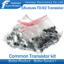 18valuesX10pcs=180pcs 2N2222 S9012 S9013 S9014 A1015 C1815 S8050 S8550 TO-92 Transistor component Assorted kit new free shipping(China)