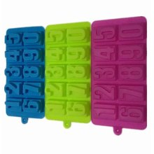 Bargain Harbor TC Silicone Numbers Chocolate Mold Candy Ice Jelly Mold Tray Maker Baking Cake Moulds