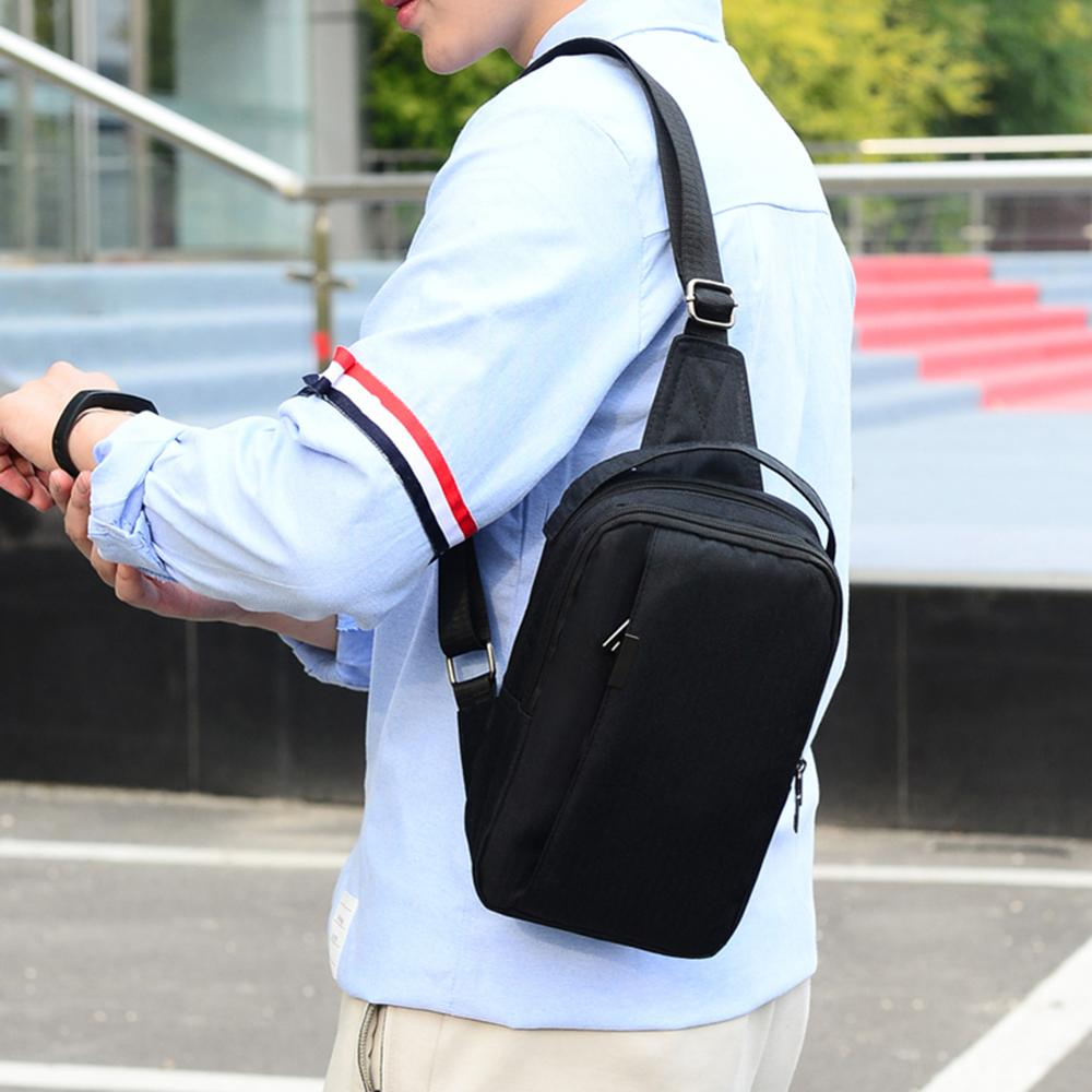 Mens Messenger Bag Sports Small Bag Chest Bag Multifunction Waterproof Nylon Cloth Shoulder Diagonal Bag