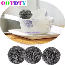 6Pcs Home Kitchen Pot Cleaning Tool Stainless Steel Balls Wire Scourer APR10_40
