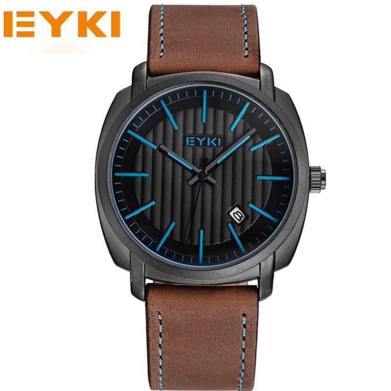 EYKI Men Sports Luxury Brand Genuine Leather Lady Watches Business And Casual Quartz Wristwatch Gold New 2017 <br><br>Aliexpress