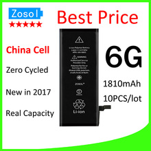 10pcs/lot Hot selling OEM 0 zero cycle Full Capacity Battery for iPhone 6 6G 1810mAh 3.82V Replacement Repair Parts(China)