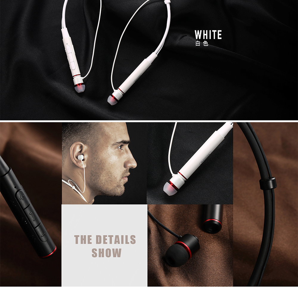 New remax RB-S6 neckband wireless Bluetooth sports earphones bass stereo music earphones support multi-point connection