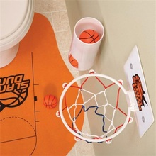 2017 New Fashion Best Offer Buy Novelty Toilet Bathroom Basketball Slam Dunk Game Toy Set Sale(China)