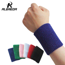 new sport cotton elastic bandage hand gym support wrist brace wrap fitness tennis polsini sweat band munhequeira
