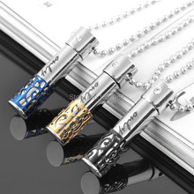 Lots 12pcs Men Women's Jewelry Stainless Steel Hollow Perfume Bottle Couple Pendants Only Love Necklaces Gift MN441(China)