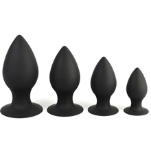 Buy Small, Medium, Large, extra large Black Silicone Butt Plug Anal Plug Ass Stimulate Massage Anal Sex Toy Adult Games Couples.