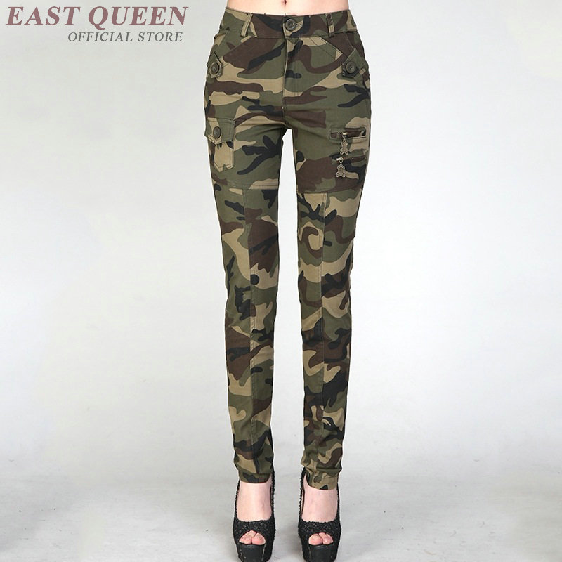 Military pants women cargo harem camouflage track pants women sweatpants     FF1001