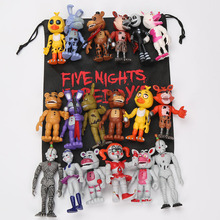 6Pcs/set 10cm Five Nights At Freddy's Sister Location fnaf toys chica Bonnie Funtime Foxy Ballora Plushtrap Action Figure toy