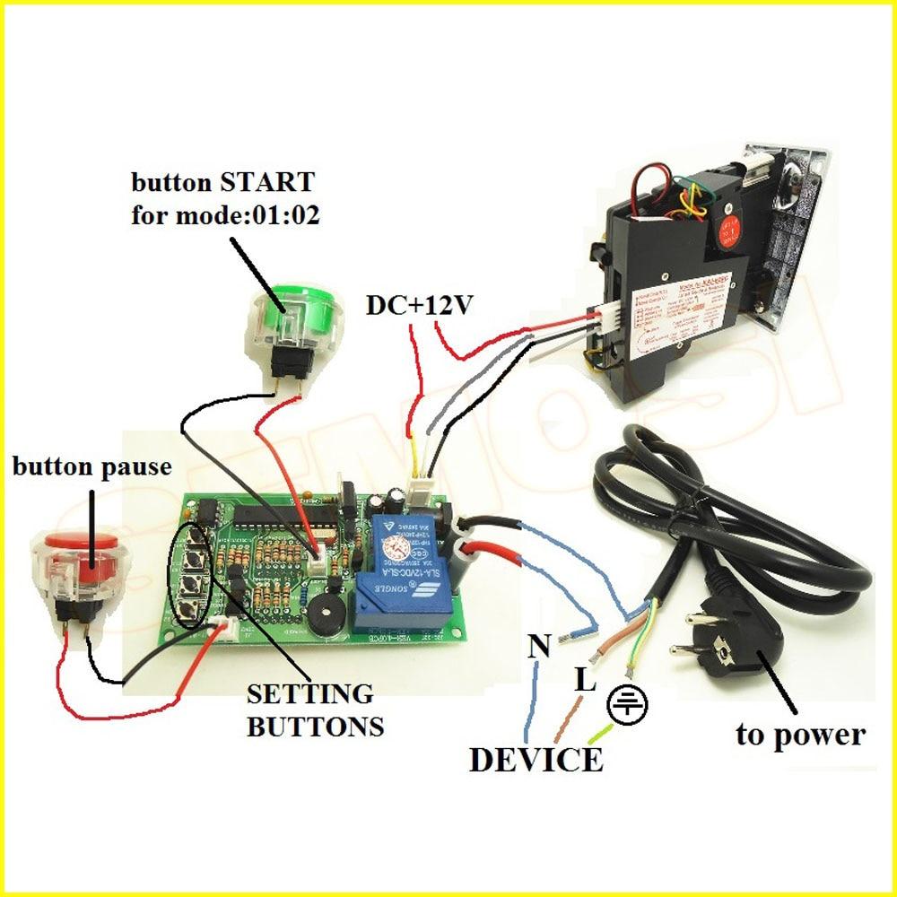 JY-16 110V220V coin operated Timer board Timer Control Board For arcade vending