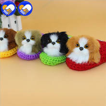 A TOY A DREAM Artificial kawaii Dog Toy Vocal Sounding Animals Simulation Cats Dog Plush Toy Animal Decor Gadget Christams Gifts(China)