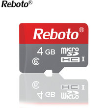 Reboto Best quality Classic style Red color Tf Memory Cards class6 4GB 8GB SD card Flash Memory Card(China)
