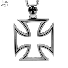fashion Simple Hollow Cross Titanium Pendant personality men and women Cross Pendant(China)