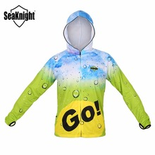 SeaKnight Fishing Clothes SK003 L XL XXL XXXL Fishing Jacket Long Sleeve Breathable Quick Dry Anti-UV Fishing Clothing with Hat(China)