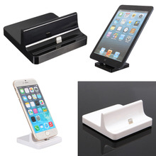 Universal Phone Charger Dock for ipad4 Sync Data Docking Station Desktop Cradle Stand for iPhone 6 Plus for iPad 4 5 air Mini