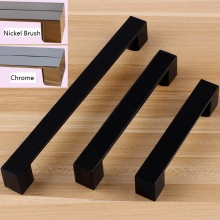 2PCS/LOT Zinc Square Kitchen Cupboard Furniture Cabinet Handle Pull