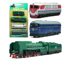 Model Kit Set Pull Back metal Steam Train Series Train Kids Toy 1/64 Transportation Christmas gift boy Locomotive YD GOOD FRIEND