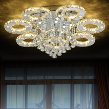 Modern Led Crystal Ceiling Lights For Living Room luminaria teto cristal Ceiling Lamps For Home Decoration Ring ceiling Light