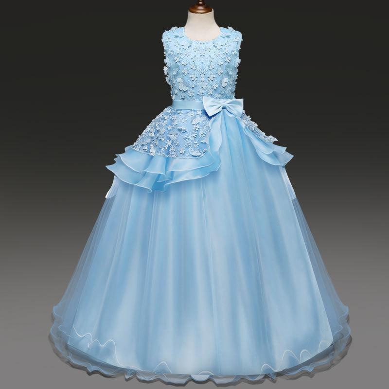 Girl Dress TuTu Bubble Dresses Ball Gown New Pattern  Wedding   Flower Princess . Long Evening Party ClothingTriTrust<br>