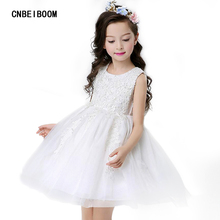 Wedding White Red Girls Dress Party Flower Sequins Tutu Lace Dresses Kids Christmas Princess Clothes Child Tulle Clothes 5-16 Y