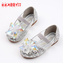 KKABBYII Girls Shoes New Spring Autumn Children Princess Party Shoes Crystal sequins Fashion Girls Sandals Kids Crystal shoes