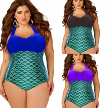 4 Piece/Lot High Quality Women Bathing Suit Metallic Mermaid Bikini Swimsuit Push Up Sexy Plus Size Monokini Wholesale