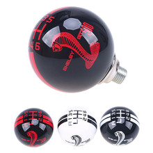 FIT For Ford Mustang Car 6 Speed Shift Knob Shifter M12x1.75 Black Red Cobra Stripe / manual transmission shift lever