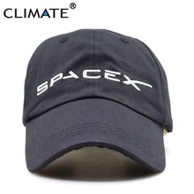 CLIMATE Men Women Cool Black Spacex UFO Baseball Hat Caps Cotton Adult Outer Space Rocket Musk Fans Sport Active Cool Caps Hat(China)