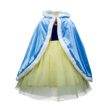 Toddler Girls Coat Cape Snow Queen Children Outerwear Elsa Costumes Kids Spring Autumn Hoodie Jackets Fur Coats Blazer