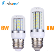 E27 LED Corn light  200-240V 85-265V E27 Led lamp Light Bulb 6W 8W LED corn Bulb Warm white Cool white 6X