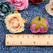 10pcs Blooming Peony Cloth Simulation Flower For Wedding Party Home Room Decoration Marriage Shoes Hats Accessories Silk Flower