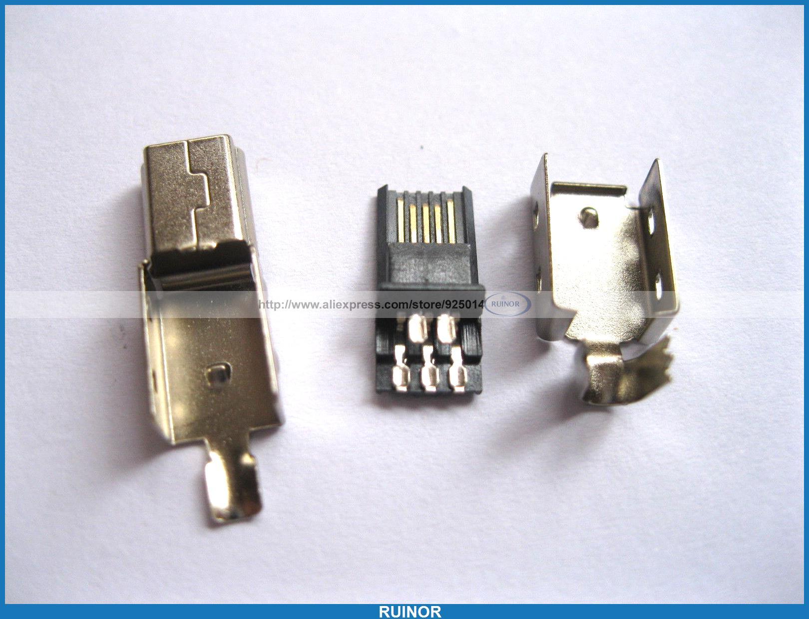 50 Pcs Mini USB Plug Male Socket Connector 5 Pin Metal <br><br>Aliexpress