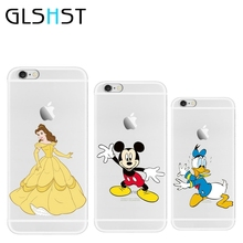GLSHST Cases For Apple iPhone 5 5S SE 6 6S 7 7Plus Case Shell  Cinderella Donald Duck Logo Clear Cover Best Hot soft case