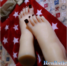 2015 New Top Quality Sex Doll Silicon Women Foot Fetish, Realistic Silicone Mannequins Feet Model, Young Girl Fake Feet(China)