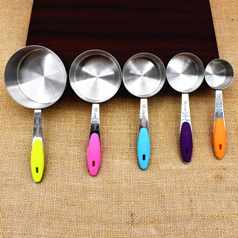 Kitchen 5Pcs//Set  Measuring Spoons Style Baking Utensil Colourworks Spoon Cup