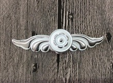White Flower Drawer Pulls Handle Silver Dresser handle Countryside Kitchen Cabinet pulls Handle Knob Furniture Hardware(China)