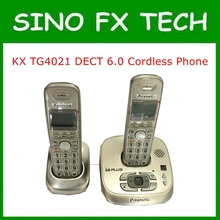 KX TG4021 DECT 6.0 Cordless Phone With Answering System 2 Handsets  Wireless Home Telephone