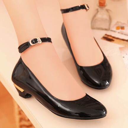 Hot Womens Patent Pointed Toe Ankle Strap Flat Casual Shoes Plus Size 34-47 Sweet Candy Color Female Shoes Ladies Office Heels<br><br>Aliexpress