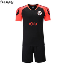 Cheap football uniforms college football jerseys kids custom boys soccer jersey children quick dry voetbal tenue kids 2017(China)