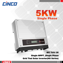 GW5000-NS,5KW Power inverter single MPPT 230VAC 50/60HZ,connected 260w 310w mono/poly solar panel sell electry to grid(China)