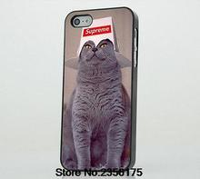 Cat Supreme Hat Funny Phone Case cover for Iphone 4S 5 5S 5C 6 6S Plus 7 7 Plus for Samsung galaxy S3/4/5/6/7 Note
