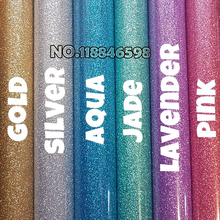 "2017 New Color for 20""x6 Yards Iron On Glitter Heat Transfer Vinyl Printing Heat Transfer Filme South Korea Quality Door to Door"