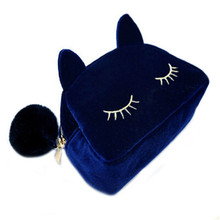 Travel Cosmetic Bag Women Cartoon Makeup Bags Cute Makeup Pouch Cat Cosmetics Bags for Make Up Organizer Storage Cases