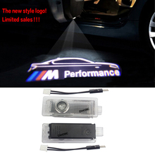 New M Performance logo projector Ghost Shadow light for bmw E60 E90 E91 F10 F15 F16 F30 M3 M5 M6 F01 F02 GT Door Warning Light