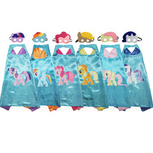 MLP Costumes capes and masks Birthday Party Favors for Kids(China)