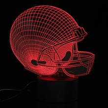 3D Visual USB LED Football Rugby Hat Night Light Color Changing Cap Table Desk Lamp Colorful Atmosphere Bedroom Novelty Lighting