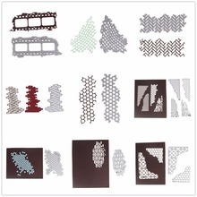 New Carbon Steel Frame Cutting Dies DIY Scrapbooking Photo Diary Decorative Embossing Geometric Shape For Christmas Wedding