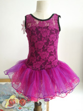 Purple Lace Ballet Clothes Children Sleeveless Ballet Dance Costume Kids Discount Ballet Dancewear Sweet Ballet Dress For Girls