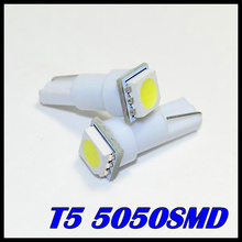 100pcs T5 led 5050 1SMD led t5 bulb with wedge base for dashboards(Gauge bulbs) led t5 12v White/Green/Blue/Red/Yellow