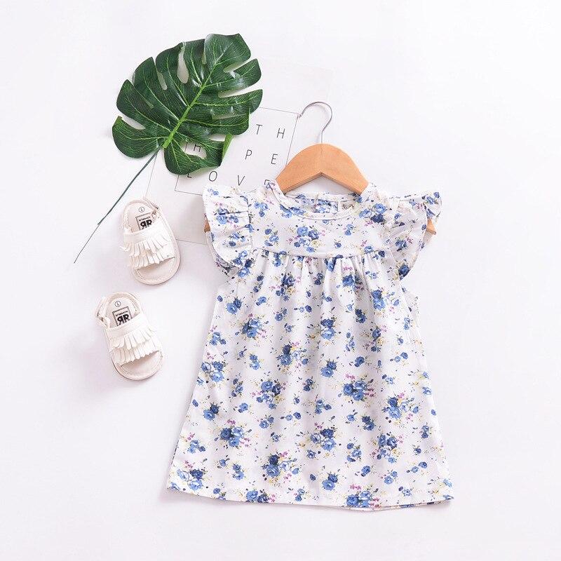 Mother nest 2018 Summer New Girls Flower Puff Sleeves Dress Cotton Children Kids Clothes Toddler Baby Birthday Kids Dresses (5)